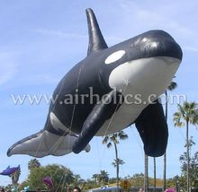 Hot sale giant inflatable whale helium fish shape balloon low price