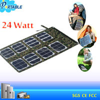 CE RoHS foldable 12v 25w solar panel for battery