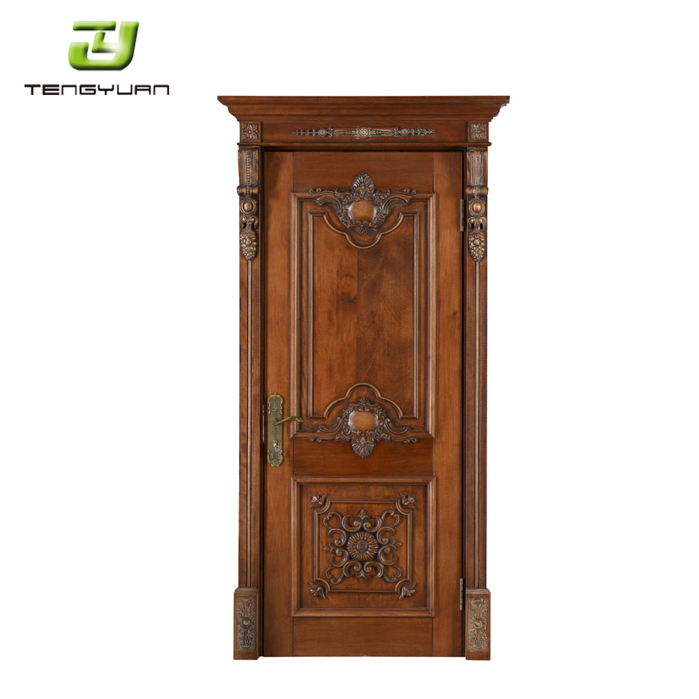 China Wholesale Modern Main Door Wood Carving Design For Sale Used