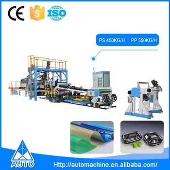 Auto disposable extruder pp plastic sheet machine