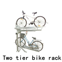 Semi Vertical galvanized bicycle rack multiple bike parking