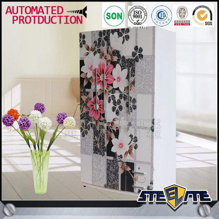 Indian flower design wardrobes otobi wardrobe in bangladesh price