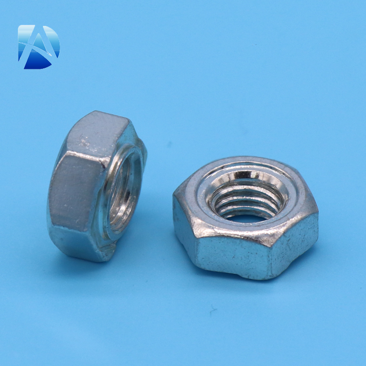 Wholesale Cheap Steel White Zinc Coated Hex Weld Nut