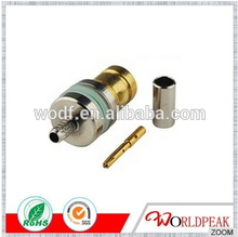 factory price gold plated right angle female RG316 tnc male bulkhead crimp type L9 rf connector