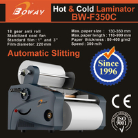 BOWAY 350mm A3 A4 paper Automatic slitting Double Sides Film Cold Hot Roll Laminator