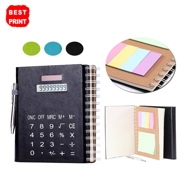 Wholesale Custom Thick Paper Ball Point Pen Calculator Electronic Notepad Planner Notebook
