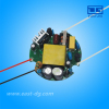china supplier CE approved high power factor 14w-18w 300ma round shape led driver
