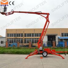 CE approved 12m tow behind man lift crane
