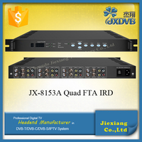 High quality DVB-S RF Tuners FTA ASI to AV Satellite IRD with 4 Seperate Modules