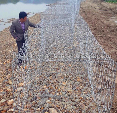 2014 Hot sale Wire Rock Wall/Rubble Retaining Wall cost(ISO Factory)
