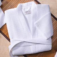 Unisex 100% Cotton Waffle Bathrobe for Hotel and Home Use