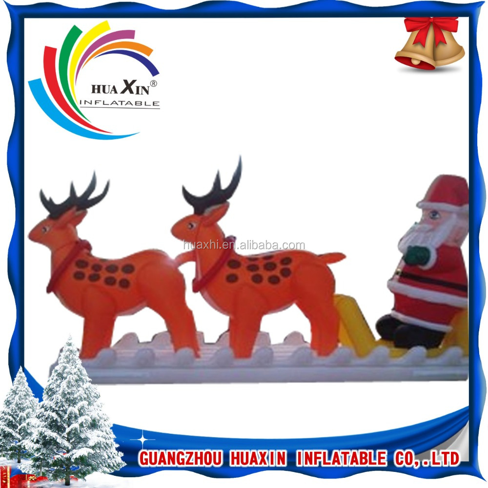 air blown Santa and reindeer/ inflatable christmas santa claus costume
