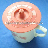 biodegradable silicone material coffee cup lids