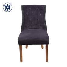 Classic Button Tufted Fabric Upholstered Dining Room Chairs With Velvet Cover
