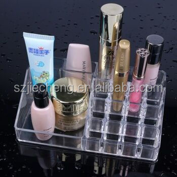 New design clear eco-friendly acrylic cosmetic display