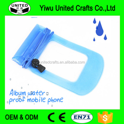 small transparent vinyl PVC CELL waterproof phone bag