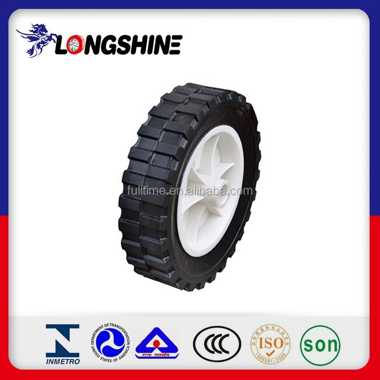 "Powder Rubber Solid Wheel 10"" X 2"" Hot Sale Factory Price"