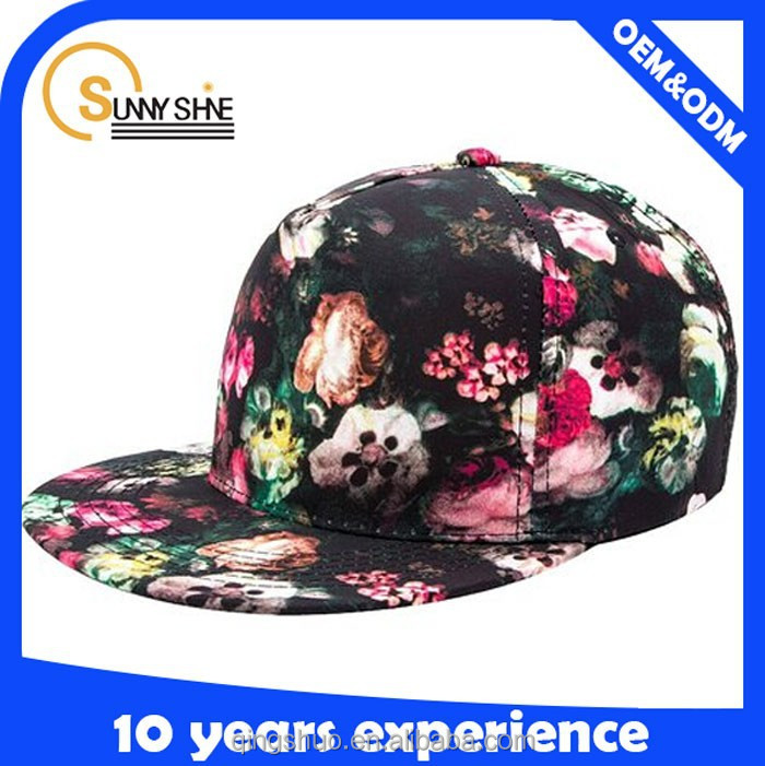 Sunny shine new style custom fashion character cheap high quality popular digital printing hat