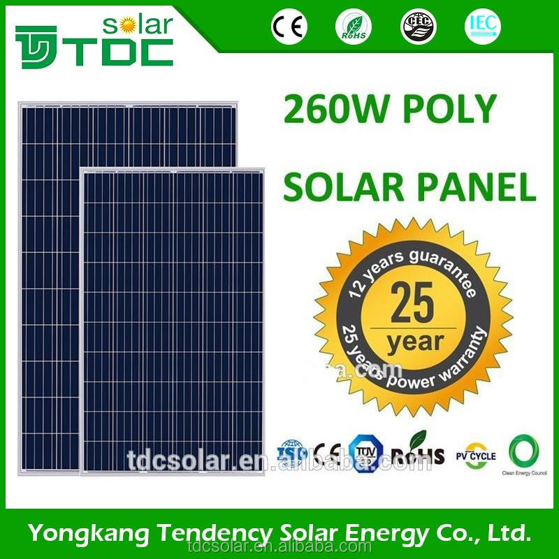 TDCsolar high efficiency 250w solar panel price 30v 60 cells China manufactory