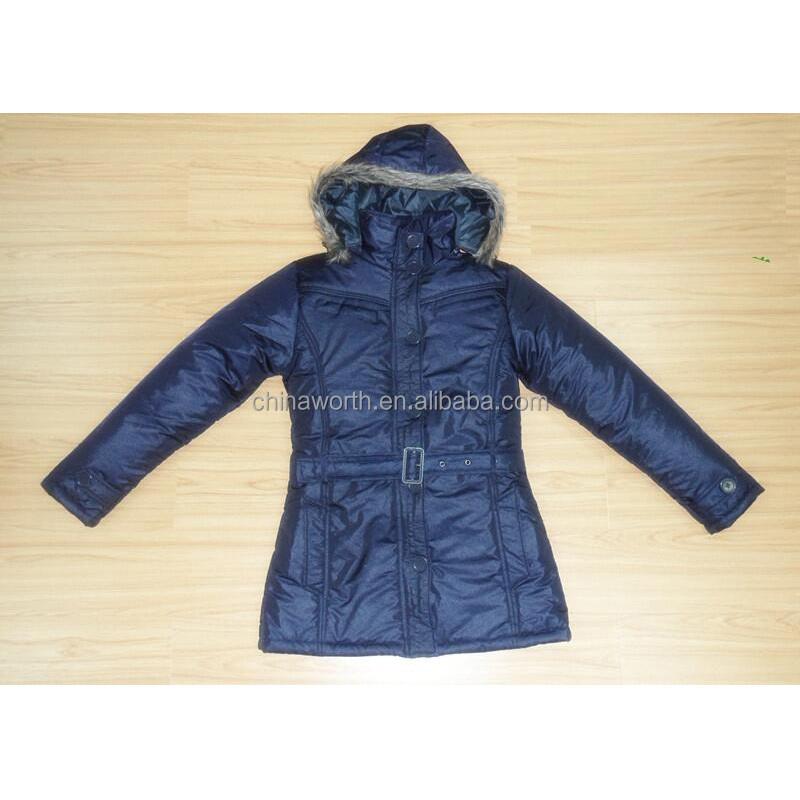 women longline padding outlet stock clothes jacket