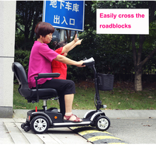 4 wheel 2 seat fully enclosed folding electric mobility scooter with roof for the elderly