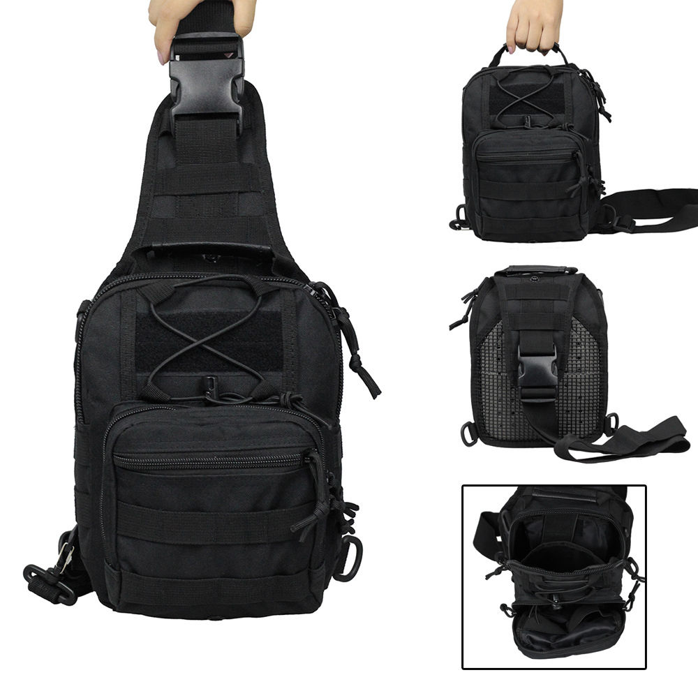Outdoor Molle Sling Military Shoulder Tactical Backpack Camping Travel Bag