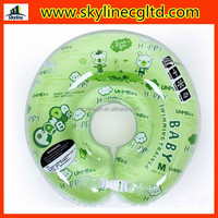Circle inflatable baby swim neck collar ring for newborth infant