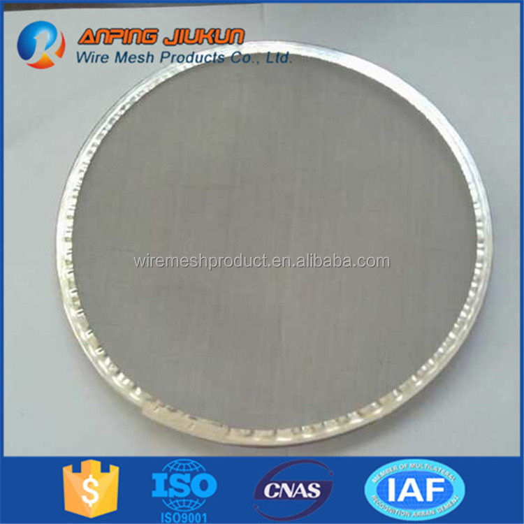 Brand new 200 micron 304 stainless mesh micronic discs 304 stainless steel polymer filter disc