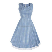 Western UK USA Ladies OEM Custom-made Dresses Fashion Vintage Dress Made In China Supplier