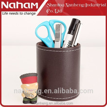 NAHAM 2015 Gorgeous PVC Leather Desktop pen holder/ pen container