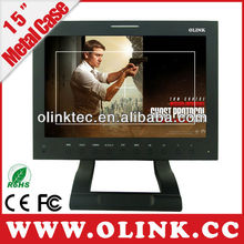 Application for DVR camera 15 inch HD Sdi Security Monitor for DVR