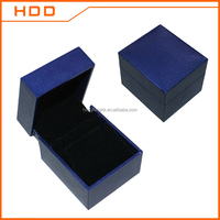 Custom logo printed leather jewelry packaging box for earring ,pendant