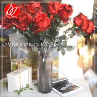 140720 Cheapest wholesale single stem silk roses artificial flower for wedding decor