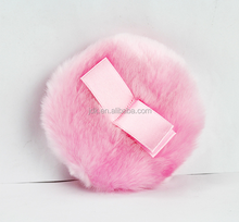 Pink Powder Puff Soft Plush Beauty Makeup Puff With Ribbon