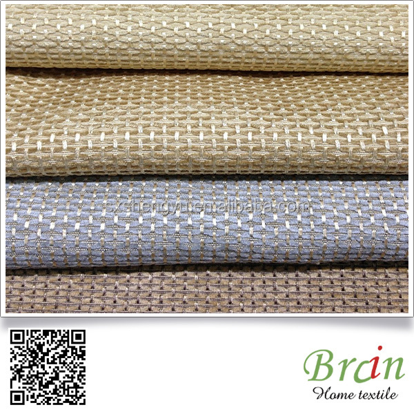 Quality Guaranteed Chenille Stripe Dobby Diamond Fabric For Sofa