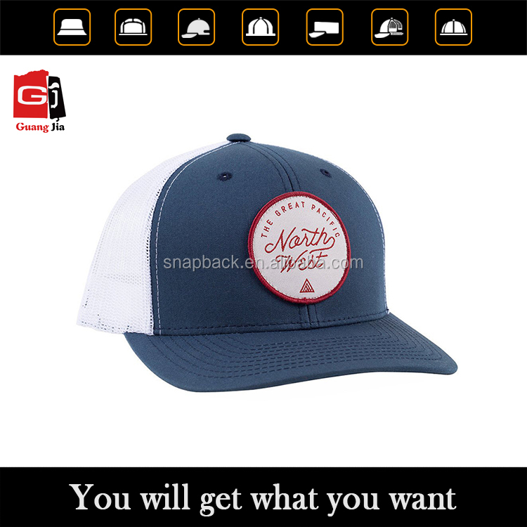 Buy customized 100% cotton label patch embroidery snapback hats wholesale