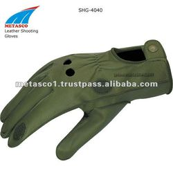 Hunting Shooting Leather Gloves
