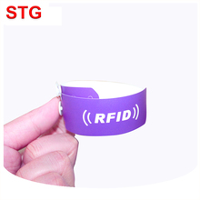 13.56mhz logo printing concert rfid disposable wristband
