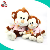 custom Hot sale pink cute pet monkey with clothing wholesale