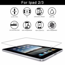 0.3mm 9H Nano anti explosion technology glass screen protector for Ipad 2/3/4