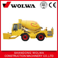 Wolwa mobile self loading mini concrete mixer truck for sale