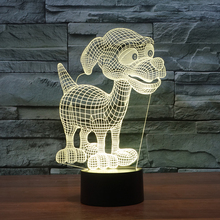 FS-3052 Animal Shape Night Light Home Decor 3D Led Dog Lamps