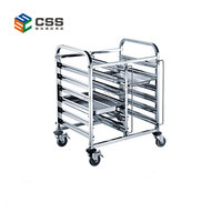 Stainless Steel Single Line Tray Trolley