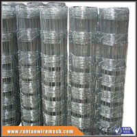 Galvanized mesh panel wire farm fence ( ISO9001-2008)