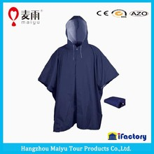 Maiyu teflon coating pvc clear blue raincoat