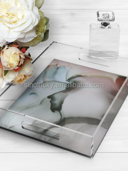 Colorful Acrylic Trays Food Acrylic Trays Wholesale Acrylic Serving Tray