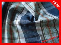 cotton/spandex yarn-dyed check jersey fabric
