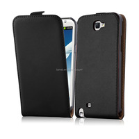 Premium Luxury Commercial Flip Genuine Leather Phone Case Cover For Samsung Galaxy Note2