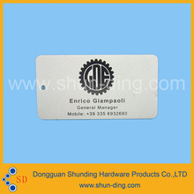 Aluminum business card with name