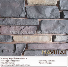 artificial decorative rock face wall stone for fireplace mantle 50042-A